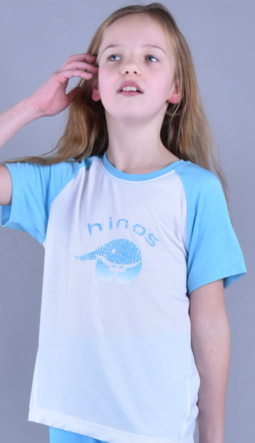 儿童圆领短袖大童T恤EB021101
