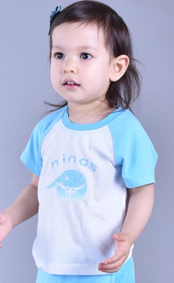 儿童万博X手机下载内衣圆领短袖两件装EB011103