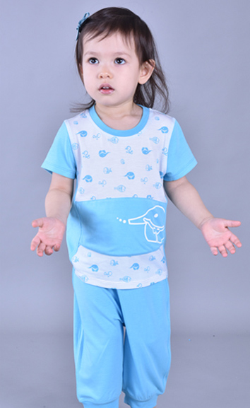 儿童万博X手机下载内衣护肚短袖七分裤EB010108